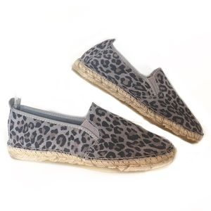 Free People Leopard Canyon suede espadrilles